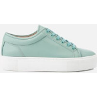 ETQ. Women's Low Top 1 Rubberized Leather Trainers - Mint Stacked - UK 3 - Green