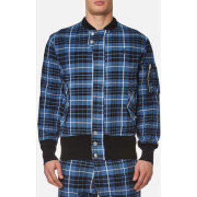 Vivienne Westwood Anglomania Men's Berry Bomber Jacket - Tartan Blue/Black - L - Blue/Black