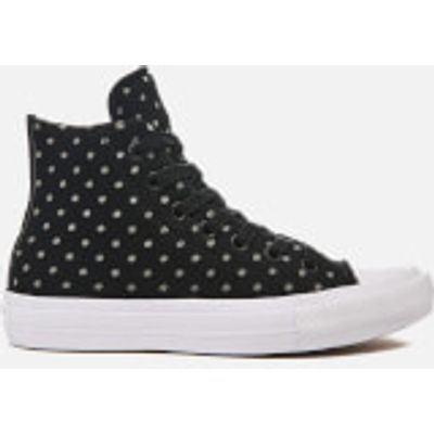 Converse Women's Chuck Taylor All Star II Hi-Top Trainers - Black/Dolphin/White - UK 5 - Black