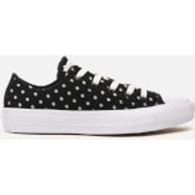 Converse Women's Chuck Taylor All Star II Ox Trainers - Black/White - UK 5 - Black