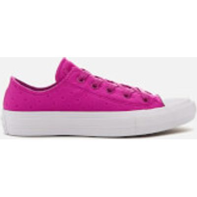 Converse Women's Chuck Taylor All Star II Ox Trainers - Magenta Glow/White - UK 5 - Pink
