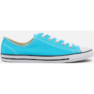 Converse Women's Chuck Taylor All Star Dainty Trainers - Fresh Cyan/Black/White - UK 4 - Blue