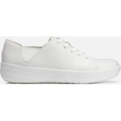 FitFlop Women's F-Sporty Leather Lace Up Trainers - Urban White - UK 7 - White