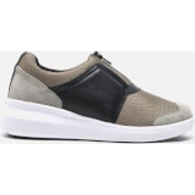 DKNY Women's Taylor Zip On Trainers - Dark Clay - US 5.5/UK 3 - Grey