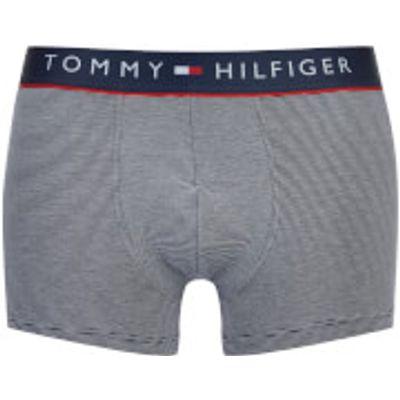 Tommy Hilfiger Men's Cotton Flex Trunks - Navy White/Stripe - S - Navy