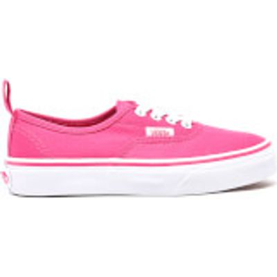 Vans Kids' Authentic Elastic Lace Trainers - Hot Pink/True White - UK 2 Kids - Pink