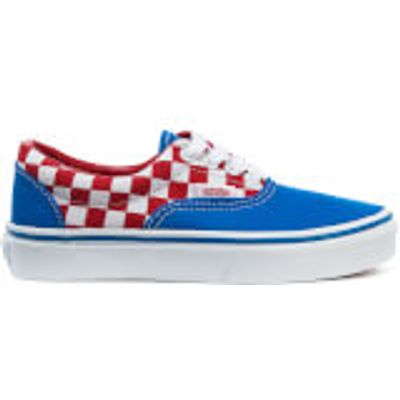 Vans Kids' Era Checkerboard Trainers - Racing Red/Imperial Blue - UK 13 Kids - Blue