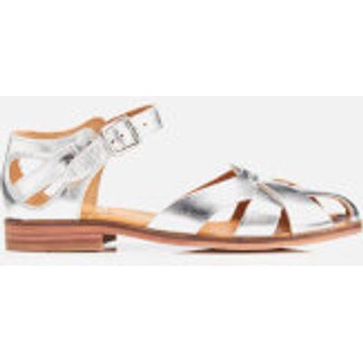 Hudson London Women's Tilda Leather Sandals - Silver - UK 4 - Silver