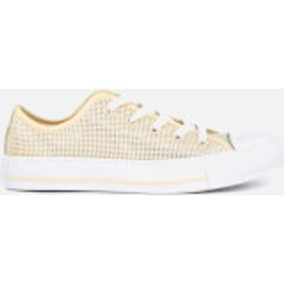 Converse Women's Chuck Taylor All Star Ox Trainers - Natural/Frayed Burlap/White - UK 5 - Beige