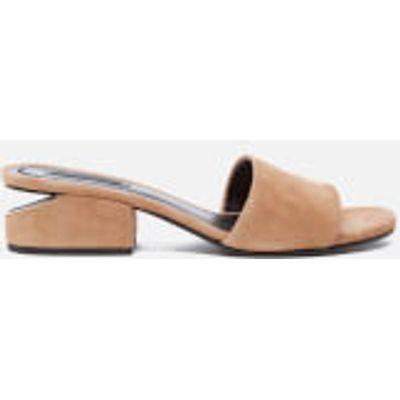 Alexander Wang Women's Lou Suede Heeled Slide Sandals - Clay - EU 39/UK 6 - Stone