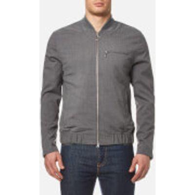 Lacoste L!ve Men's Flannel Bomber Jacket - Light Grey Jaspe - 5/L - Grey