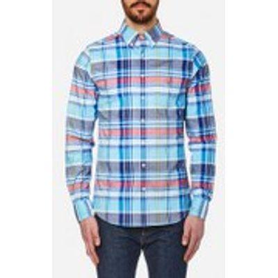 7325701569391 | GANT Men s Big Plaid Comfort Oxford Long Sleeve Shirt   Nautical Blue   M Store
