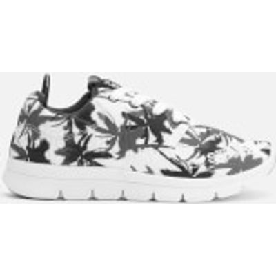 Superdry Women's Scuba Runner Trainers - Electric Palm Mono - UK 4 - White