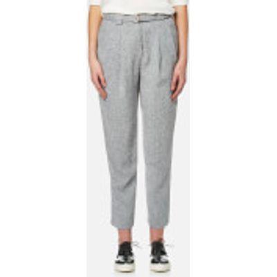 Paisie Women's Peg Leg Trousers - Grey - S - Grey