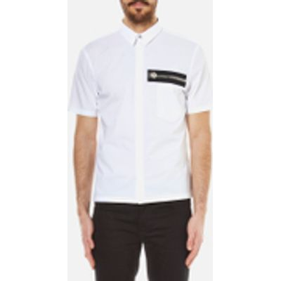Versus Versace Men's Zip Pocket Detail Short Sleeve Shirt - Optical White - M/EU 50 - White