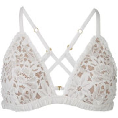 For Love & Lemons Women's Sage Lace Bra - Ivory - XS - White