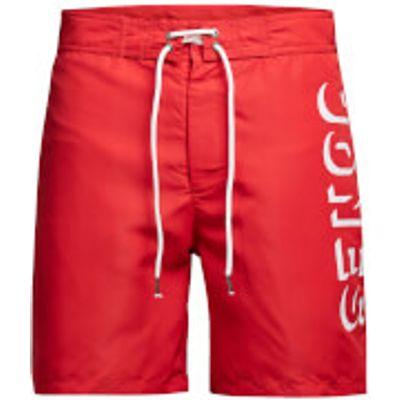 Jack & Jones Men's Classic Board Shorts - Racing Red - XXL - Red
