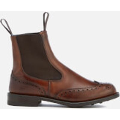 Knutsford by Tricker's Women's Silvia Leather Chelsea Boots - Chestnut Burnished - UK 7 - Tan