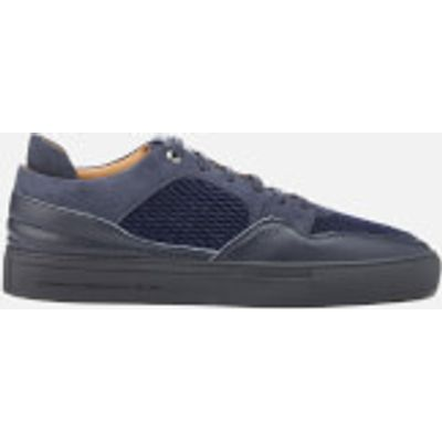 Android Homme Men's Omega Quilted Velvet Low Top Trainers - Navy - UK 8 - Navy