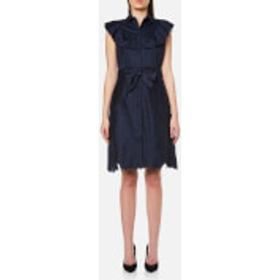 Foxiedox Women's Eletta Button Up Dress - Blue - UK 10 - Blue