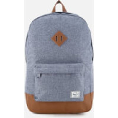 Herschel Supply Co. Heritage Backpack - Dark Chambray Crosshatch/Tan Synthetic Leather