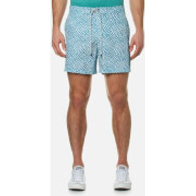 Michael Kors Men's Printed Board Shorts - Rhone Blue - L - Blue