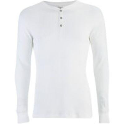 Levi's Men's Long Sleeve Grandad Top - White - S - White
