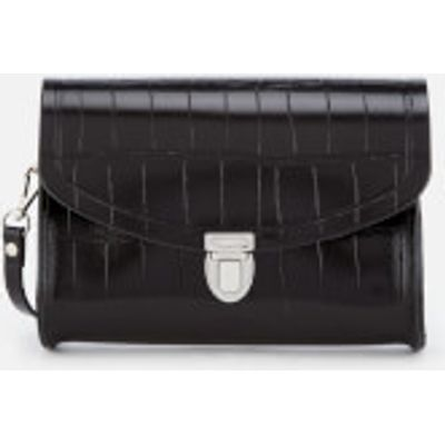 The Cambridge Satchel Company Women's Push Lock Bag - Black Patent Croc