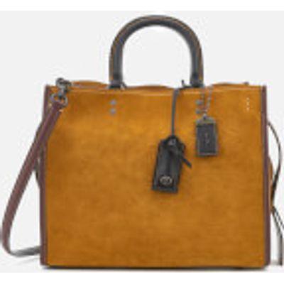 Coach 1941 Women's Colourblock Suede Rogue Bag - Oak
