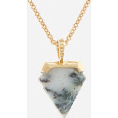 Missoma Women's Dendritic Chalcedony Mini Shield Pendant and Gold Plain Chain - Gold/Multi