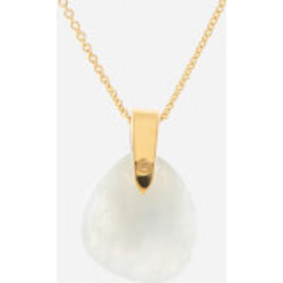 Missoma Women's Rainbow Moonstone Karma Pendant and Gold Plain Chain - Gold/White