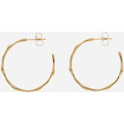 Missoma Women's Gold Medium Molten Hoops - Gold