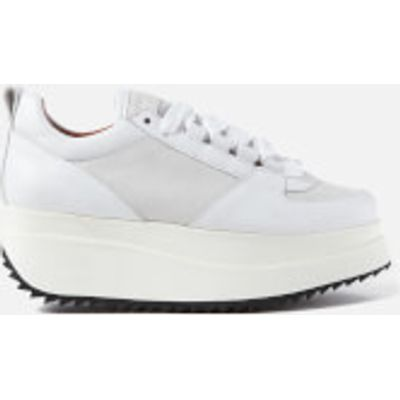 Ganni Women's Naomi Leather Trainers - Bright White - EU 38/UK 5 - White