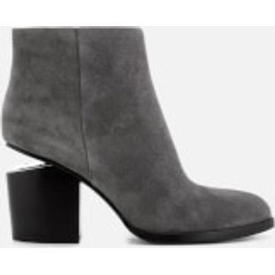 Alexander Wang Women's Gabi Suede Heeled Ankle Boots - Mink - UK 3 - Grey