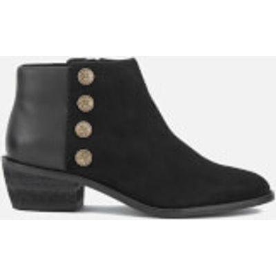 Dune Women's Panella Suede Ankle Boots - Black - UK 7 - Black