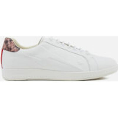 PS by Paul Smith Women's Lapin Leather Star Embossed Trainers - White - UK 5 - White