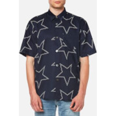 Our Legacy Men's Initial Short Sleeve Shirt - Navy Star Print - L - Navy