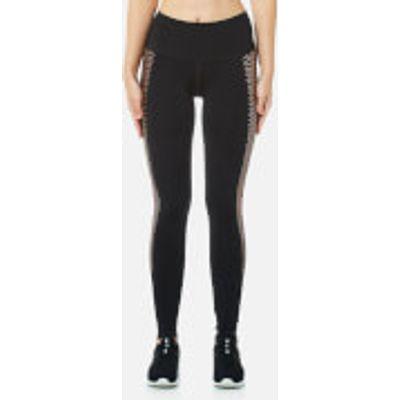 Puma Women's Everyday Graphic Tights - Puma Black/Copper Lacing - XS/UK 8 - Black