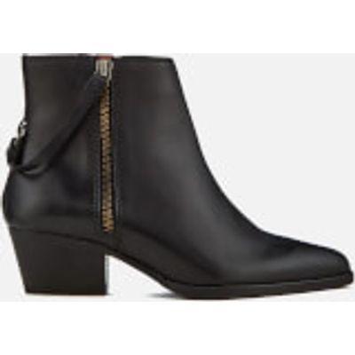 Hudson London Women's Larry Leather Heeled Ankle Boots - Black - UK 6 - Black