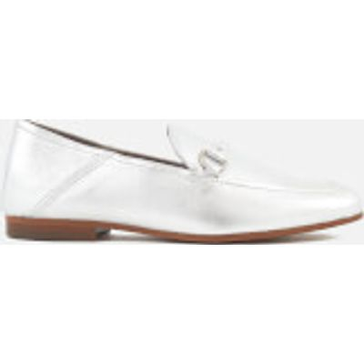 Hudson London Women's Arianna Leather Loafers - Silver - UK 4 - Silver