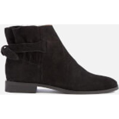 Hudson London Women's Aretha Suede Flat Ankle Boots - Black - UK 3 - Black