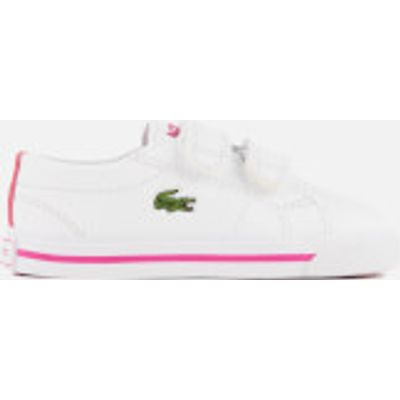 Lacoste Toddlers' Riberac 117 1 Trainers - White/Pink - UK 5 Toddlers - White/Pink