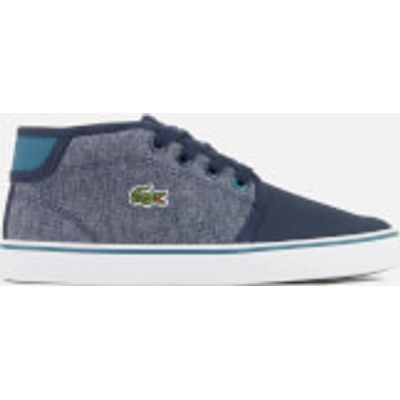 Lacoste Kids' Ampthill 317 1 Mid Top Trainers - Navy - UK 10 Kids - Blue