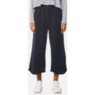 T by Alexander Wang Women's Pull On Wide Leg Cropped Pants - Navy - S - Navy
