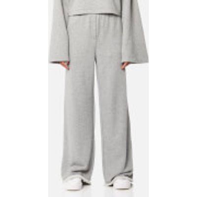 T by Alexander Wang Women's Pull On Wide Leg Pants - Heather Grey - S - Grey