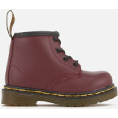 Dr. Martens Toddlers' Brooklee B Leather Lace Up Boots - Cherry Red - UK 3 Toddlers - Red