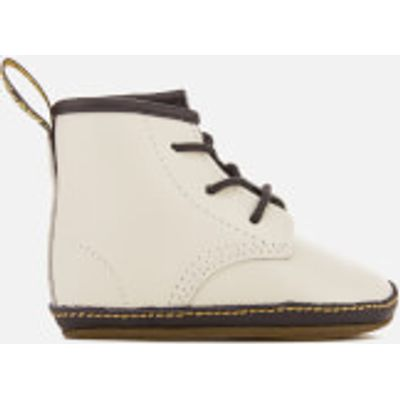 Dr. Martens Babies' Auburn Crib Lace Booties - White - UK 0 Baby - White
