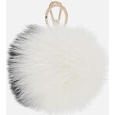 Furla Women's Bubble Keyring Pom Pom - Onyx/Petalo