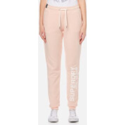 Superdry Women's Athletic League Cuff Joggers - 90's Baby Pink Marl - L