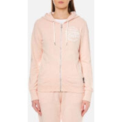 Superdry Women's Athletic League Loopback Zip Hoody - 90's Baby Pink Marl - L - Pink